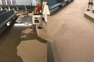 Before and After of Flood Clean Up Service
